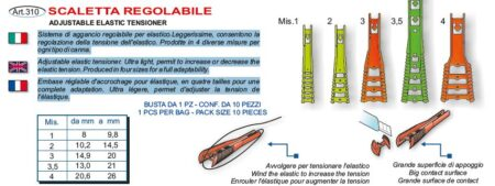 SCALETTA REGOLABILE STONFO PER ELASTICO Art.310